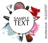 cosmetic product promotion... | Shutterstock . vector #412220707