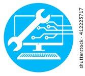 big data security maintenance...   Shutterstock .eps vector #412225717