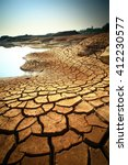 dry land texture on the ground. | Shutterstock . vector #412230577