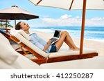 beautiful business woman... | Shutterstock . vector #412250287