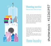 illustration of laundry with a... | Shutterstock .eps vector #412261957