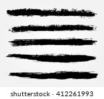 grunge brush strokes.vector... | Shutterstock .eps vector #412261993