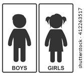 boy and girl icon. vector... | Shutterstock .eps vector #412263517