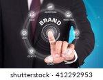 brand technology communication... | Shutterstock . vector #412292953