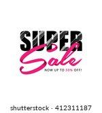 super sale banner vector design. | Shutterstock .eps vector #412311187