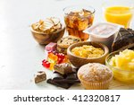 selection of food high in sugar | Shutterstock . vector #412320817