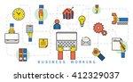 vector illustration line icons... | Shutterstock .eps vector #412329037