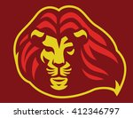Lion Head Mascot With Blowing...