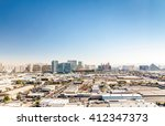 Stock photo panorama of las vegas nevada usa 412347373