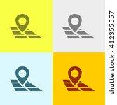 map pointer icon on four...
