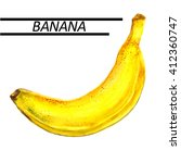 banana watercolor. hand drawn... | Shutterstock . vector #412360747