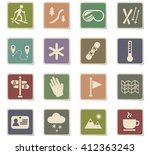 skiing web icons for user... | Shutterstock .eps vector #412363243