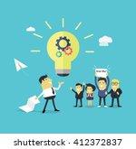 successful design concept great ... | Shutterstock .eps vector #412372837