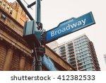 corner of the broadway and west ... | Shutterstock . vector #412382533