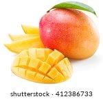 Mango Fruit And Mango Slices O...