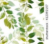 leaves  botanical seamless...   Shutterstock . vector #412392157