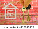 the keys to the apartment in... | Shutterstock . vector #412395997