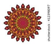 round mandala. arabic  indian ... | Shutterstock . vector #412398097