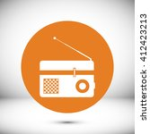 radio icon | Shutterstock .eps vector #412423213