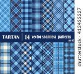 set tartan seamless pattern.... | Shutterstock .eps vector #412433227