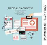 flat health care and medical... | Shutterstock .eps vector #412444027