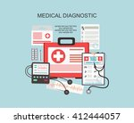 flat health care and medical... | Shutterstock .eps vector #412444057