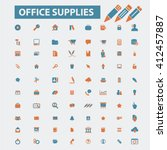 office supplies icons  | Shutterstock .eps vector #412457887