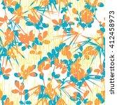 pop botanical pattern seamless... | Shutterstock .eps vector #412458973