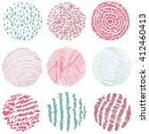 hand drawn circles ink textures ...   Shutterstock .eps vector #412460413