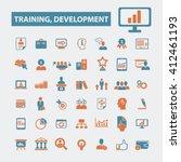 training development icons    Shutterstock .eps vector #412461193
