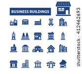 business buildings icons  | Shutterstock .eps vector #412462693