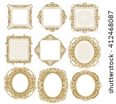 set of sophisticated luxury... | Shutterstock .eps vector #412468087