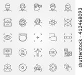 virtual reality icons set  ... | Shutterstock .eps vector #412468093