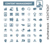 content management icons  | Shutterstock .eps vector #412474267