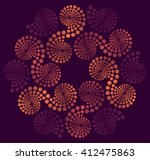an embroidery rosette made of... | Shutterstock .eps vector #412475863