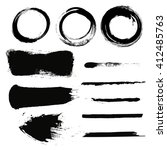 set of empty scribble circles... | Shutterstock .eps vector #412485763
