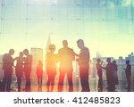 business people corporate... | Shutterstock . vector #412485823