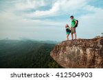 couple in love standing on the... | Shutterstock . vector #412504903