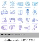 thin line icons set. business... | Shutterstock .eps vector #412511947