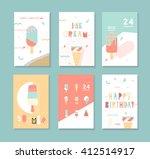 a set of complimentary frozen... | Shutterstock .eps vector #412514917