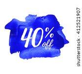 40  off vector text  logo  card ... | Shutterstock .eps vector #412521907