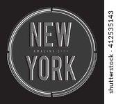 Vintage New York Typography  T...