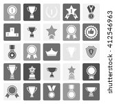 award icon set.vector black and ... | Shutterstock .eps vector #412546963