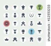 award icon set.vector black... | Shutterstock .eps vector #412553233