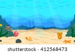 Cartoon Sea  Ocean. The Seabed...