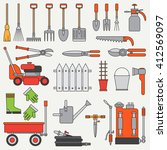 line flat color vector icon... | Shutterstock .eps vector #412569097