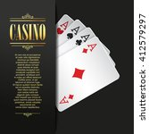 casino background. vector poker ... | Shutterstock .eps vector #412579297