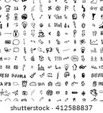 hand drawn seamless doodle... | Shutterstock .eps vector #412588837