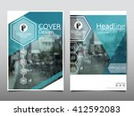 blue hexagon technology annual... | Shutterstock .eps vector #412592083