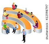 public free wi fi  icon hotspot ... | Shutterstock .eps vector #412598797